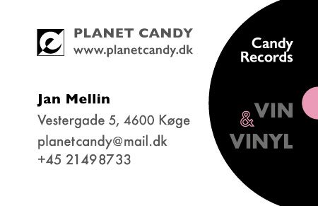 Visitkort design for Planet Candy